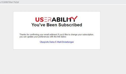 Danke Seite userability Beispiel